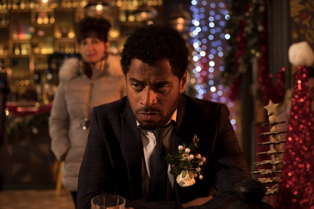 LOUIS IS DRINKING FEELING SORRY FOR HIMSELF, BREDA SPOTS HIM