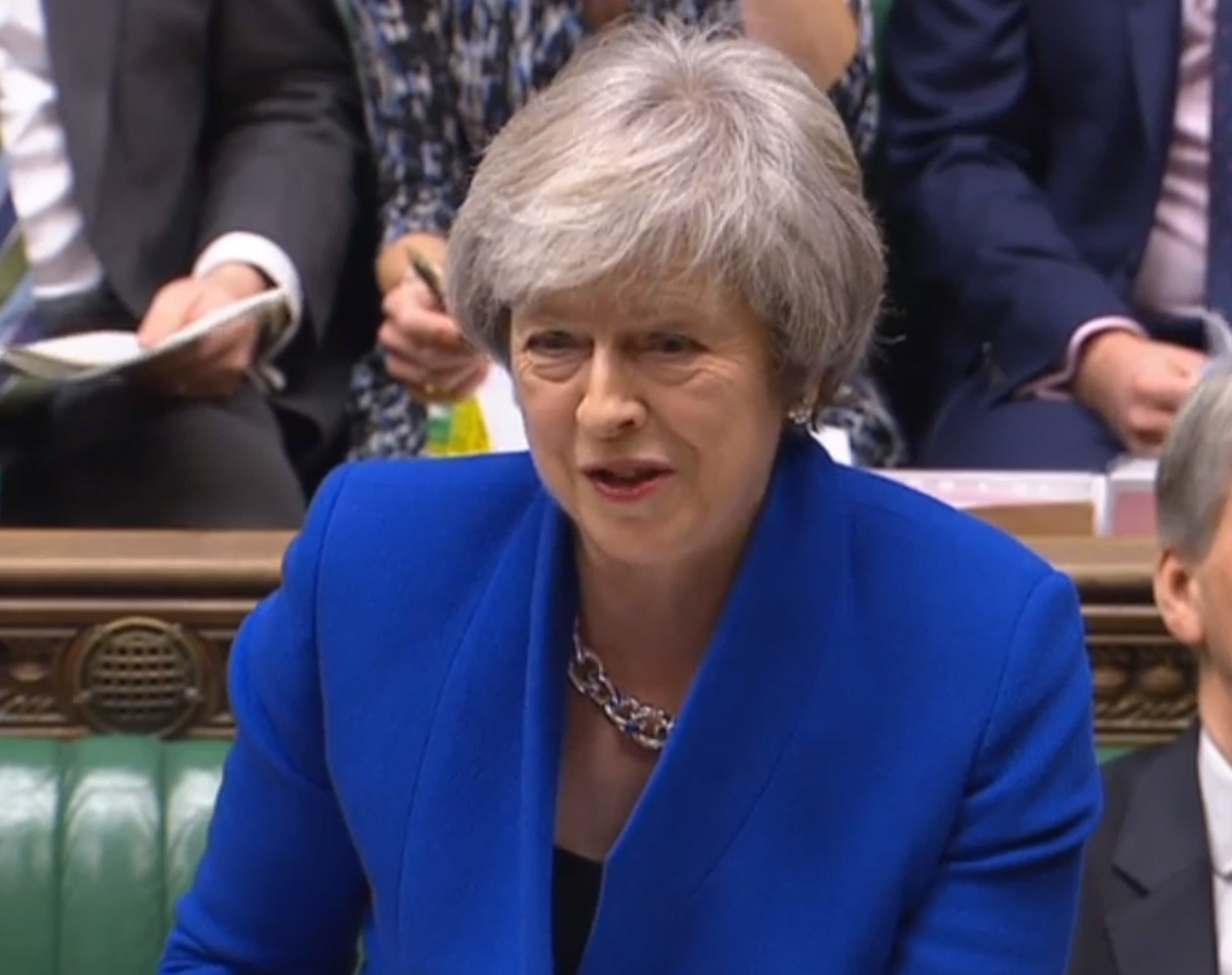 Prime Minister Theresa May speaks during Prime Minister's Questions in the House of Commons, London. PRESS ASSOCIATION Photo. Picture date: Wednesday December 19, 2018. See PA story POLITICS PMQs May. Photo credit should read: House of Commons/PA Wire