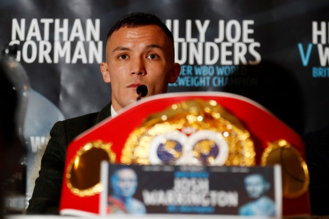 Boxing - Josh Warrington & Carl Frampton Press Conference - The Midland Hotel, Manchester, Britain - December 19, 2018 Josh Warrington during the press conference Action Images via Reuters/Jason Cairnduff
