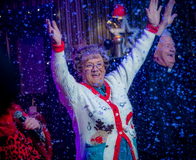 WARNING: Embargoed for publication until 00:00:01 on 11/12/2018 - Programme Name: Mrs Brown's Boys Christmas and New Year Special - TX: 25/12/2018 - Episode: n/a (No. n/a) - Picture Shows: **STRICTLY EMBARGOED NOT FOR PUBLICATION BEFORE 00:01 HRS ON TUESDAY 11TH DECEMBER 2018** Mrs Brown (BRENDAN O???CARROLL) - (C) BBC Studios - Photographer: Alan Peebles