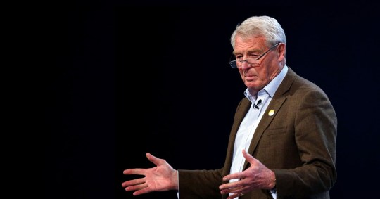 Former Liberal Democrat leader Paddy Ashdown speaks at the Liberal Democrats Spring Conference at the BT Convention Centre in Liverpool.