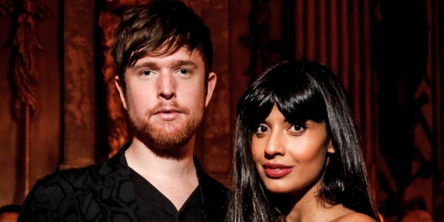 Mandatory Credit: Photo by Jamie Simonds/Bafta/REX/Shutterstock (9420734h) Jameela Jamil & James Blake 71st British Academy Film Awards, Nominees Party, Inside, Kensington Palace, London, UK - 17 Feb 2018