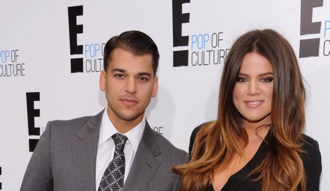 """NEW YORK, NY - APRIL 30: Rob Kardashian and Khloe Kardashian Odom of """"Keeping Up With The Kardashians"""" attend E! 2012 Upfront at NYC Gotham Hall on April 30, 2012 in New York City. (Photo by Dimitrios Kambouris/E/NBCU Photo Bank via Getty Images for E!)"""