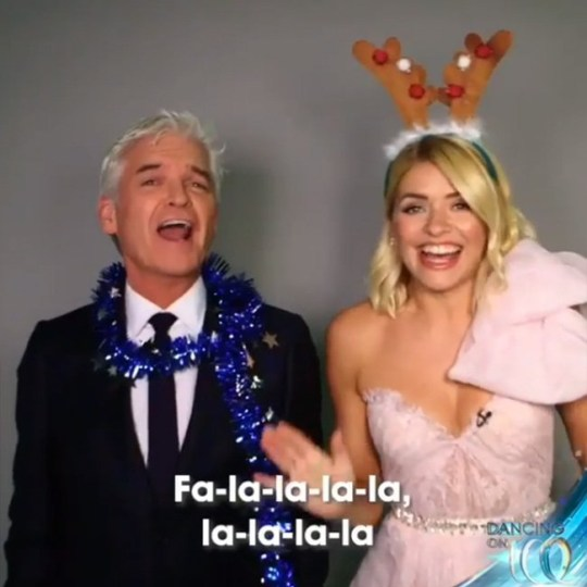 Holly and Phil get into the Christmas spirit as they belt out hilarious rendition of Deck The Halls