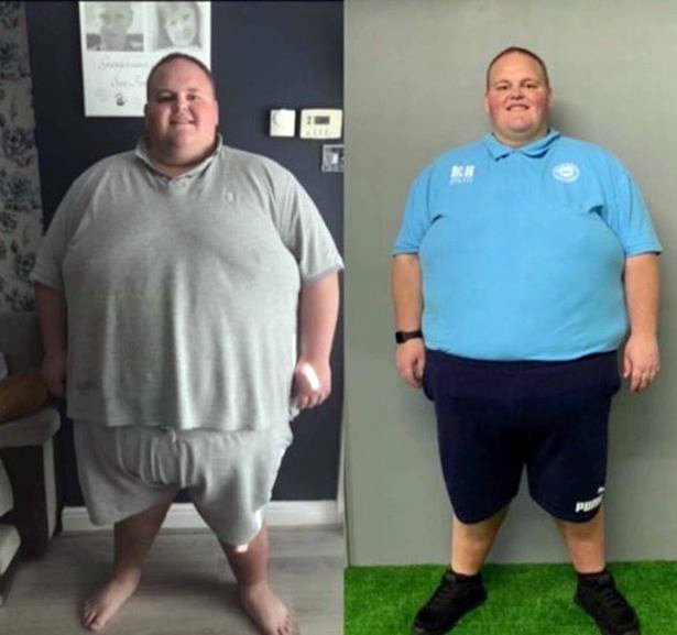 40-stone man banned from takeaway shops loses seven stone in just ten weeks