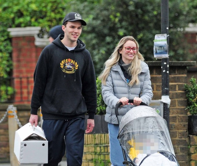 MUZZED BGUK_1442027 - *EXCLUSIVE* LONDON, UNITED KINGDOM - *WEB MUST CALL FOR PRICING* First pictures of Nicholas Hoult and Bryana Holly out with their new baby. The British heartthrob and his playboy model girlfriend who boasts 1.7 million instagram followers went out for a stroll and to pick up a Turkey for Christmas Day they also stopped to get some groceries to complement their Christmas dinner and he even stopped by a shop with his own namesake. The loved up couple had a great chemistry and Bryana couldn't stop laughing at Nicholas' jokes it was nice to see Jenifer Lawrence's ex so happy and content with fatherhood. Pics taken: 23/12/2018 Pictured: Nicholas Hoult and Bryana Holly BACKGRID UK 25 DECEMBER 2018 BYLINE MUST READ: NASH / BACKGRID UK: +44 208 344 2007 / uksales@backgrid.com USA: +1 310 798 9111 / usasales@backgrid.com *UK Clients - Pictures Containing Children Please Pixelate Face Prior To Publication*