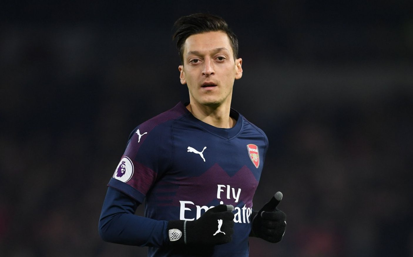 BRIGHTON, ENGLAND - DECEMBER 26: Mesut Ozil of Arsenal during the Premier League match between Brighton & Hove Albion and Arsenal FC at American Express Community Stadium on December 26, 2018 in Brighton, United Kingdom. (Photo by Stuart MacFarlane/Arsenal FC via Getty Images)