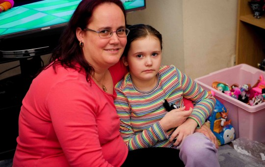 Adele Lake with daughter Jade Lake, 8, from Grimsby who has Leigh syndrome.