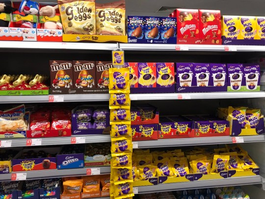 Andrew Beer handout photo dated 27/12/18 of eggs and other Easter chocolates on display in a Co-Op store in Sandwich, Kent. PRESS ASSOCIATION Photo. Issue date: Friday December 28, 2018. See PA story CONSUMER Easter. Photo credit should read: Andrew Beer/PA Wire NOTE TO EDITORS: This handout photo may only be used in for editorial reporting purposes for the contemporaneous illustration of events, things or the people in the image or facts mentioned in the caption. Reuse of the picture may require further permission from the copyright holder.
