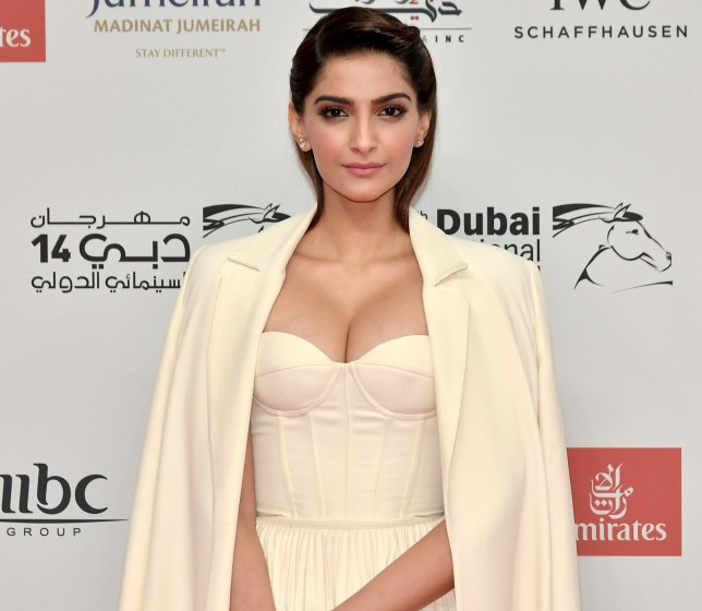 DUBAI, UNITED ARAB EMIRATES - DECEMBER 06: Sonam Kapoor attends the Opening Night Gala of the 14th annual Dubai International Film Festival held at the Madinat Jumeriah Complex on December 6, 2017 in Dubai, United Arab Emirates. (Photo by Neilson Barnard/Getty Images for DIFF)
