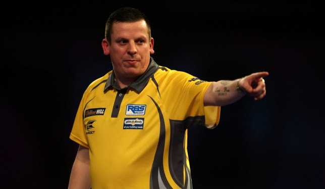 Dave Chisnall reacting during day fourteen of the William Hill World Darts Championships at Alexandra Palace, London. PRESS ASSOCIATION Photo. Picture date: Saturday December 29, 2018. See PA story DARTS World. Photo credit should read: Steven Paston/PA Wire