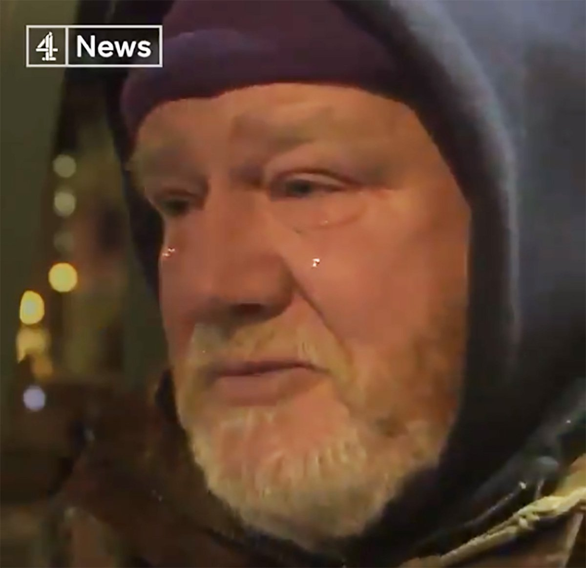 Soldier in Corbyn xmas homeless video tried to rape a 87-year-old woman Credit: Channel 4