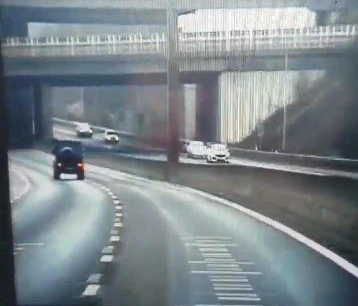A Mercedes G Wagon speeds at up to 125mph while undertaking other cars on a slip road of the M25. See SWNS copy SWCAfootballer: A famous footballer is due to appear in court after police was overtaken by the driver on the motorway doing 55mph over the speed limit. Police caught the well-known footballer driving dangerously on the M25, reaching speeds of 125mph and undertaking drivers on the slip road. The dash-cam video was posted on Beds., Cambs. and Herts. Road Policing twitter and shows the footballer overtake the police officers in a Mercedes G Wagon.