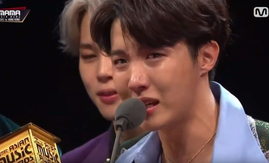 BTS considered disbanding reveals Jin during emotional MAMA