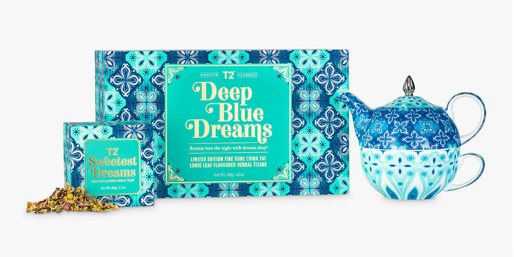 T2 Deep Blue Dreams tea gift set