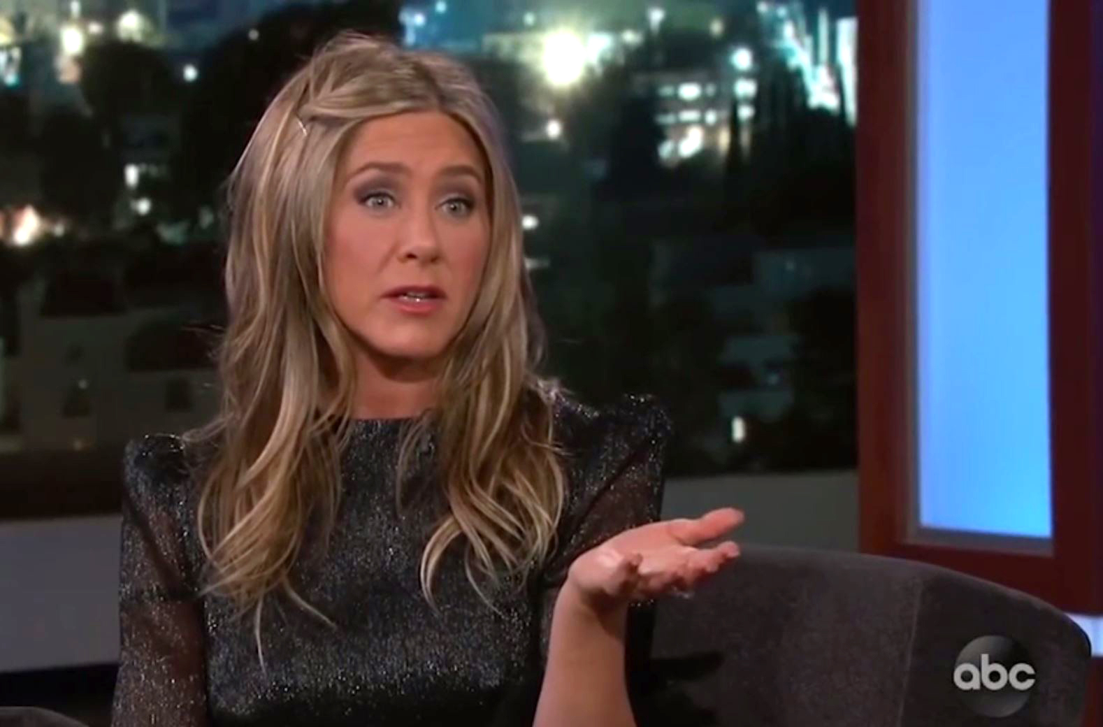 Picture: ABC Jennifer Aniston recalls Jimmy Kimmel's daughter pooping in her backyard