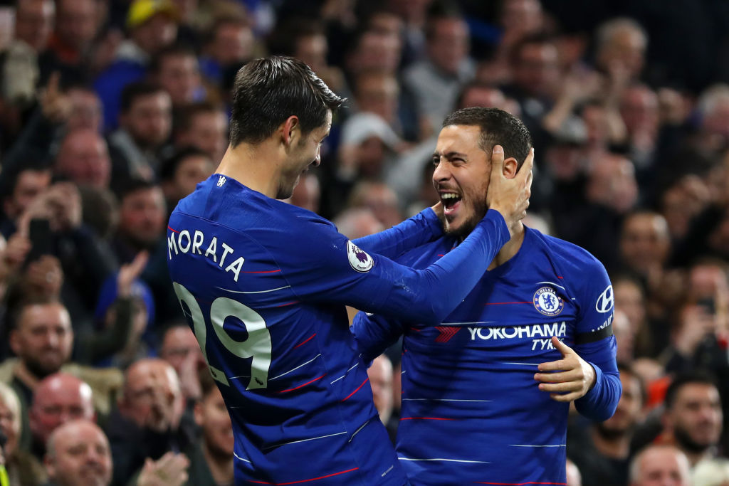 Jamie Carragher blames Alvaro Morata's poor form on Eden Hazard's comments