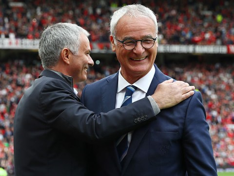 Manchester United boss Jose Mourinho first manager to welcome Claudio Ranieri back to England