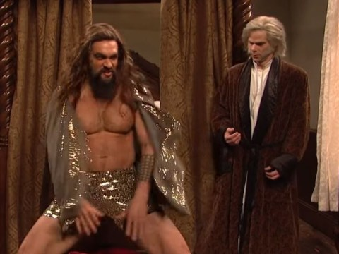 Jason Momoa is all kinds of extra as he twerks in sparkly pants for SNL