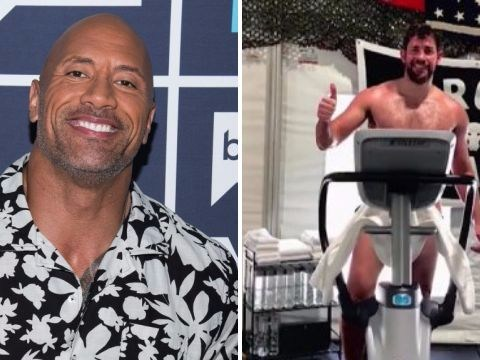 Dwayne The Rock Johnson trolls John Krasinski's over his naked gym selfies: 'I can't un-see them'