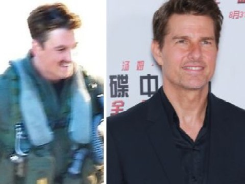 Tom Cruise jokes around with Miles Teller on Top Gun 2 set as sequel is pushed back
