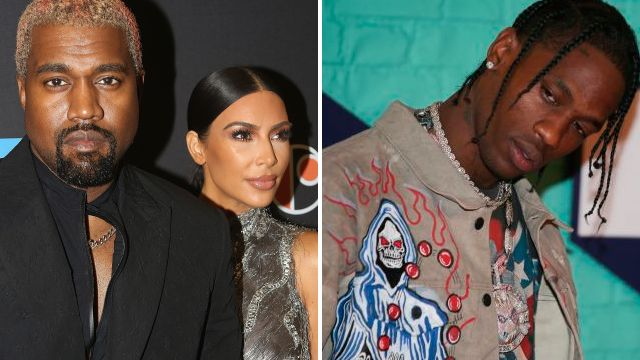 Kim Kardashian and Kanye West prove there's no bad blood as they support Travis Scott on tour