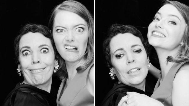 Emma Stone and Olivia Coleman let their hair down at 2018 BIFA Awards