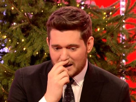 Michael Buble gets emotional as he thanks fans for support through son's cancer battle