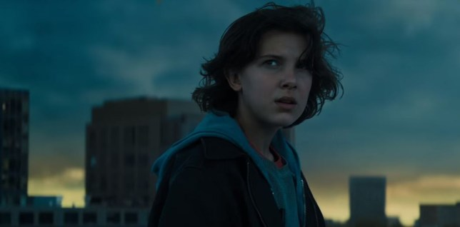 Millie Bobby Brown pictured in still from upcoming film Godzilla: King Of The Monsters