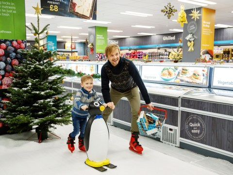 Iceland transforms store into ice skating rink so you can slide into the frozen section