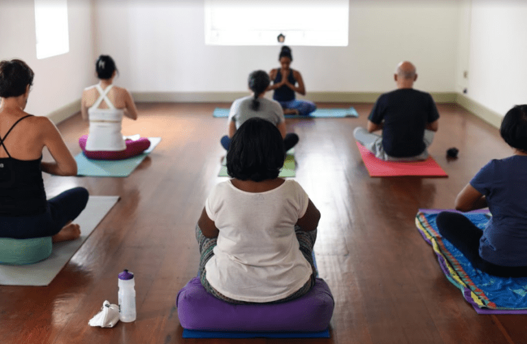 Yoga class at Prana Lounge, Colombo