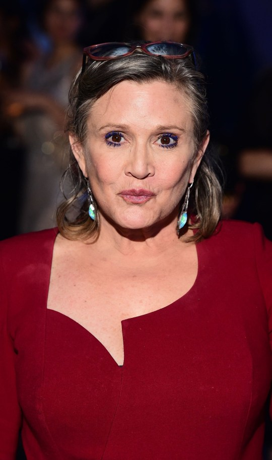 """File photo dated 16/12/15 of Carrie Fisher, as the boss of Disney said that the next Star Wars film will not be changed following the death of the actress. PRESS ASSOCIATION Photo. Issue date: Friday March 24, 2017. Bob Iger, the movie studio's chief executive, said Fisher appears """"throughout"""" Star Wars Episode 8: The Last Jedi and her image would not be recreated using special effects. See PA story SHOWBIZ StarWars. Photo credit should read: Ian West/PA Wire"""