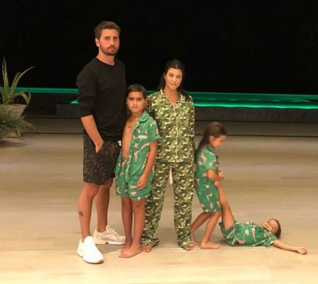 Scott Disick, Kourtney and the kids