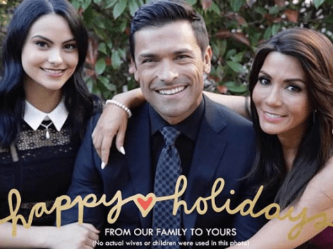 Riverdale's Mark Consuelos and his TV wife are the stars of his 2018 holiday card and not his IRL family
