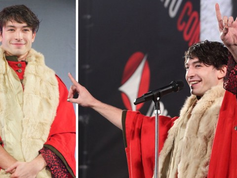 Ezra Miller wore the the quirkiest outfit ever to Tokyo Comic Con 2018 Opening Ceremony and we're totally living for it
