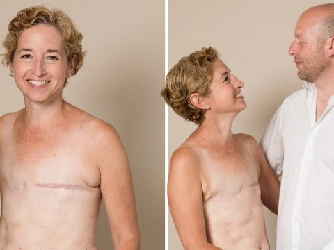 Mum embraces her mastectomy scars after surviving cancer three times