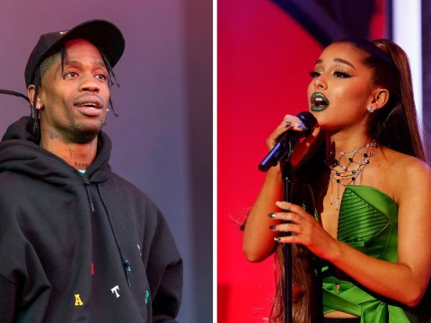 Ariana Grande claps back at Travis Scott hater as he beats her to number one on Billboard