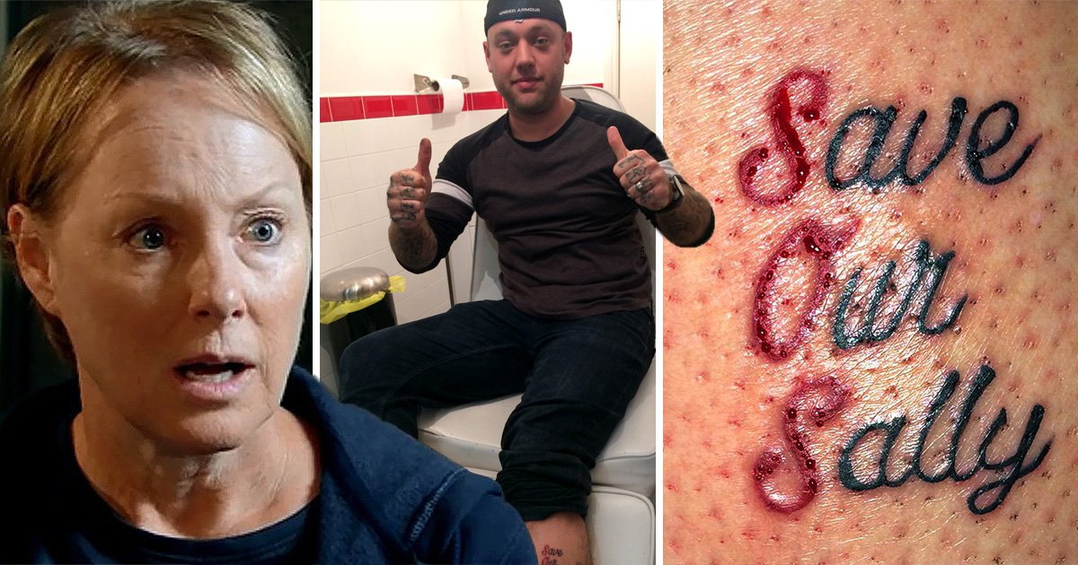 Dedicated Coronation Street fan has 'Save Our Sally' tattooed on his leg in honour of imprisoned Sally Metcalfe