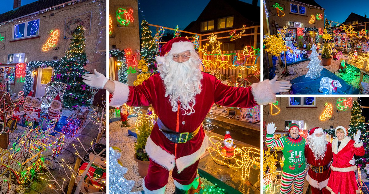 Widower dresses up as Santa and writes to children to honour his wife's dying wish