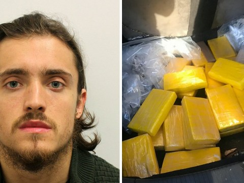 Drug smuggler made no effort to hide bright yellow bricks of cocaine in his boot