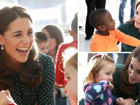 William and Kate meet sick children after Duchess is named as Patron of hospital