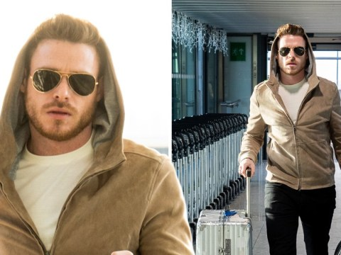 Bodyguard's Richard Madden looks unfazed after Golden Globe nomination as he's spotted in airport