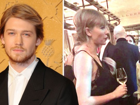 Taylor Swift slips into Joe Alwyn's London premiere but has cover blown by boyfriend's co-star
