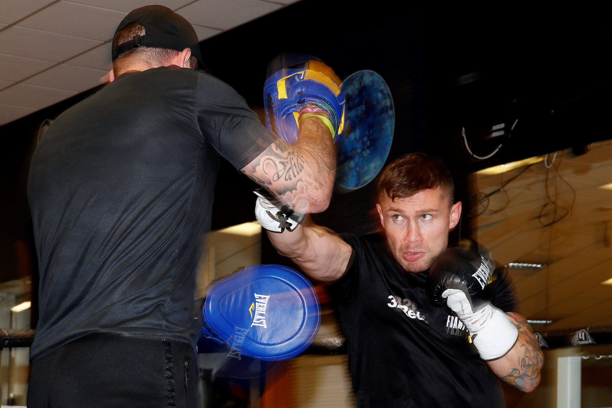 Boxing - Josh Warrington & Carl Frampton media work-outs - Hatton Health and Fitness, Hyde, Britain - November 12, 2018 Carl Frampton during his work out Action Images via Reuters/Jason Cairnduff