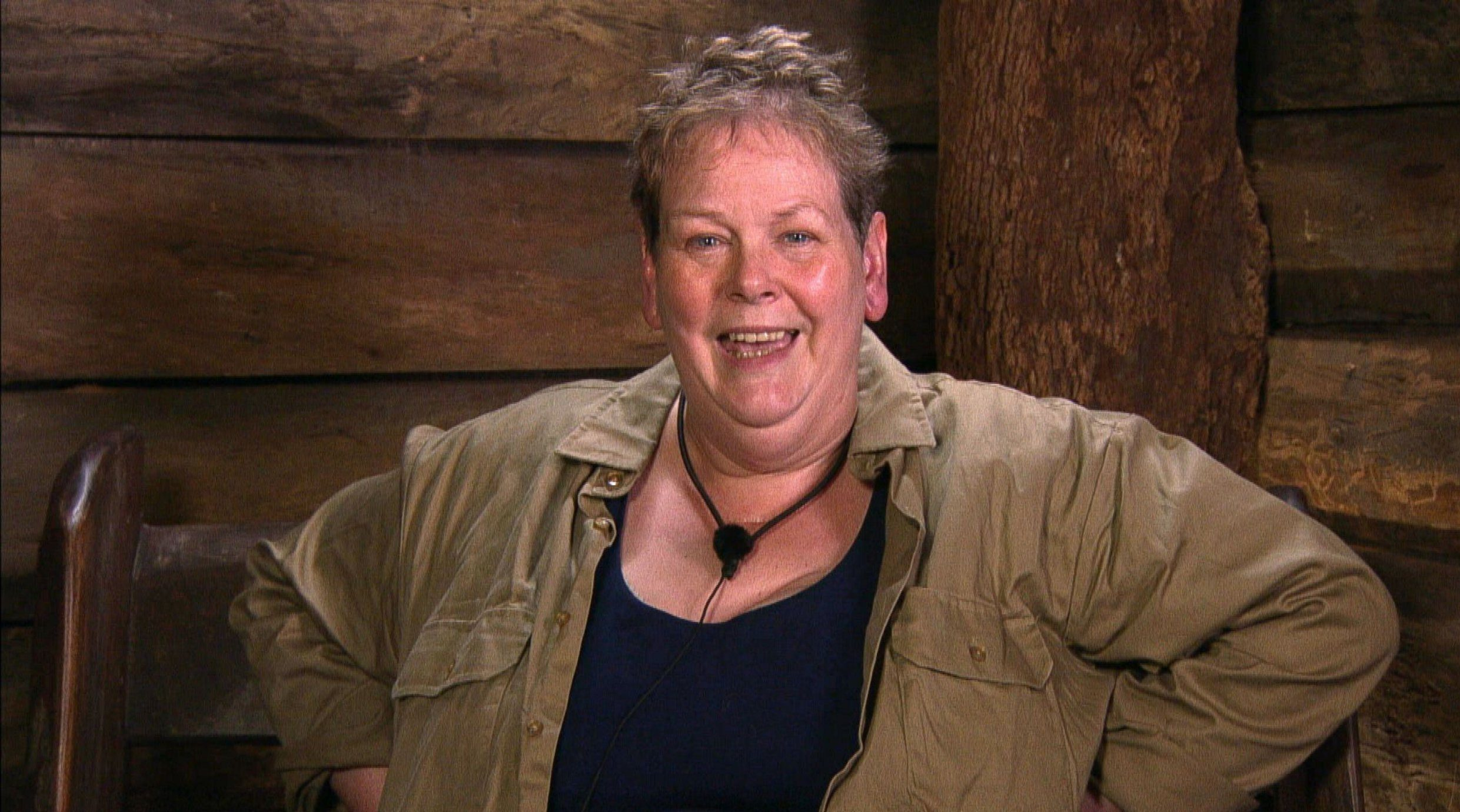 STRICT EMBARGO - NOT TO BE USED BEFORE 22:30 GMT, 24 NOV 2018 - EDITORIAL USE ONLY Mandatory Credit: Photo by ITV/REX/Shutterstock (9991348cj) John Quizzes Anne - Anne Hegerty 'I'm a Celebrity... Get Me Out of Here!' TV Show, Series 18, Australia - 24 Nov 2018