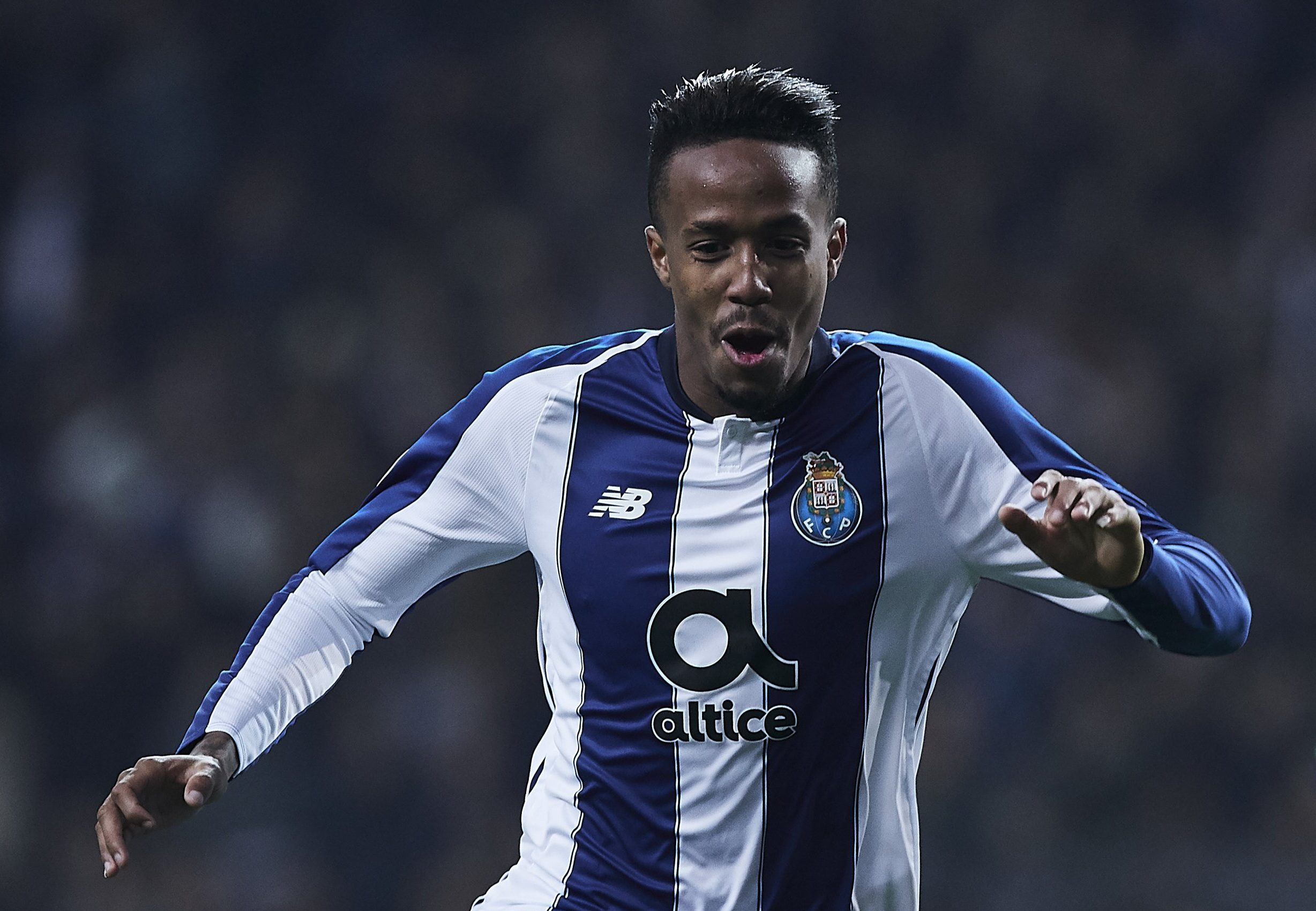 PORTO, PORTUGAL - NOVEMBER 28: Eder Militao of Porto celebrates scoring his team's opening goal during the Group D match of the UEFA Champions League between FC Porto and FC Schalke 04 at Estadio do Dragao on November 28, 2018 in Porto, Portugal. (Photo by Quality Sport Images/Getty Images)