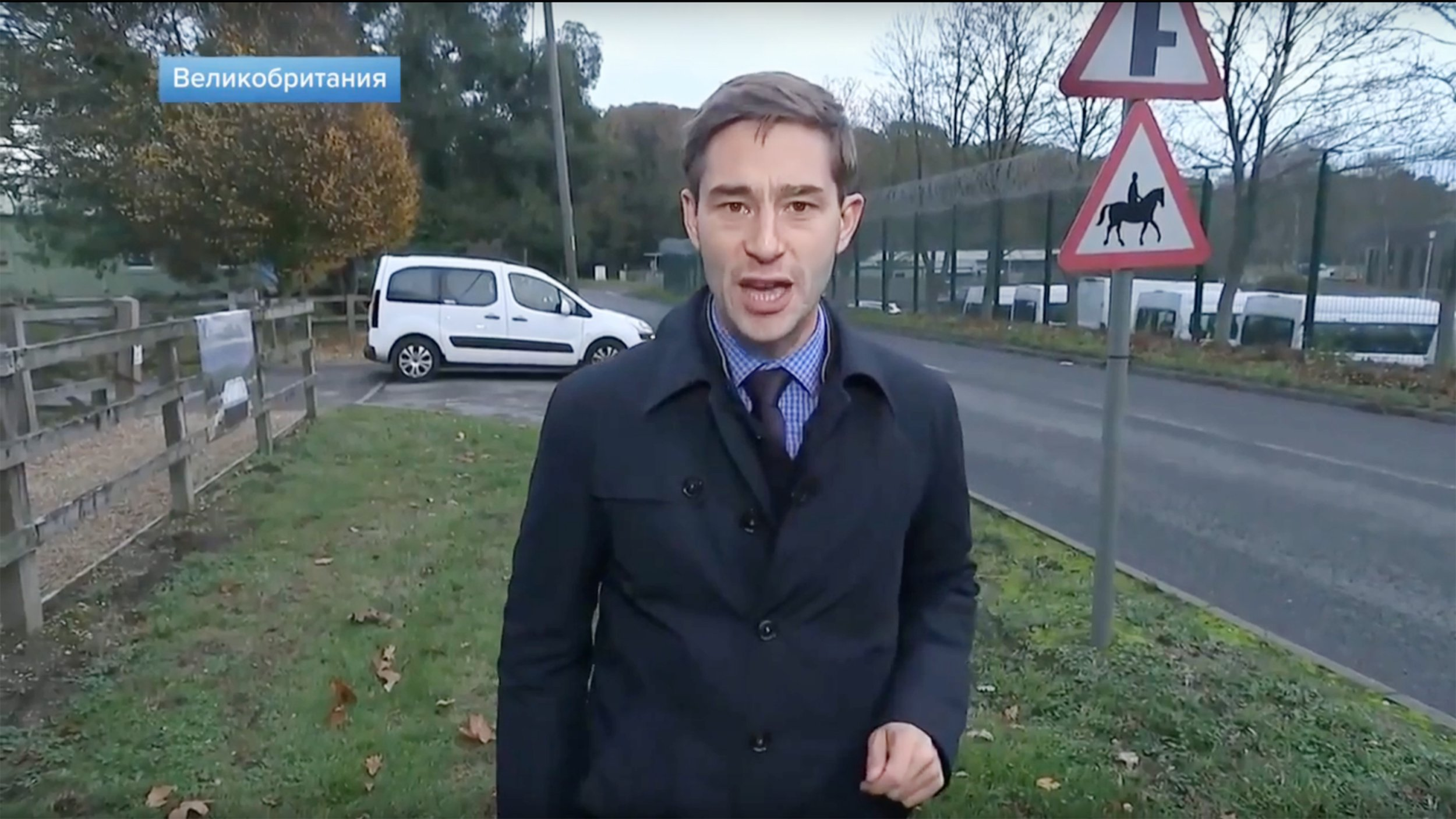 Footage from a Russian Channel 1 television report by Timur Siraziev about the British Army 77th Brigade based at Denison Barracks in Hermitage, Berkshire 22 November. ***TMoS STILLS*** ***MAIL ON SUNDAY USE ONLY - NO SYNDICATION - DO NOT LIBRARY***