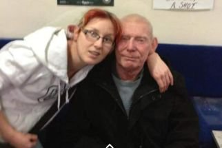 Jackie Nicholson with her father Joe who died at Ahu Hospital in Turkey Credit: NCJ Media