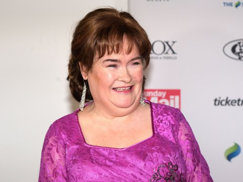 Susan Boyle can't stop smiling in BTS glimpse at America's Got Talent before golden buzzer performance