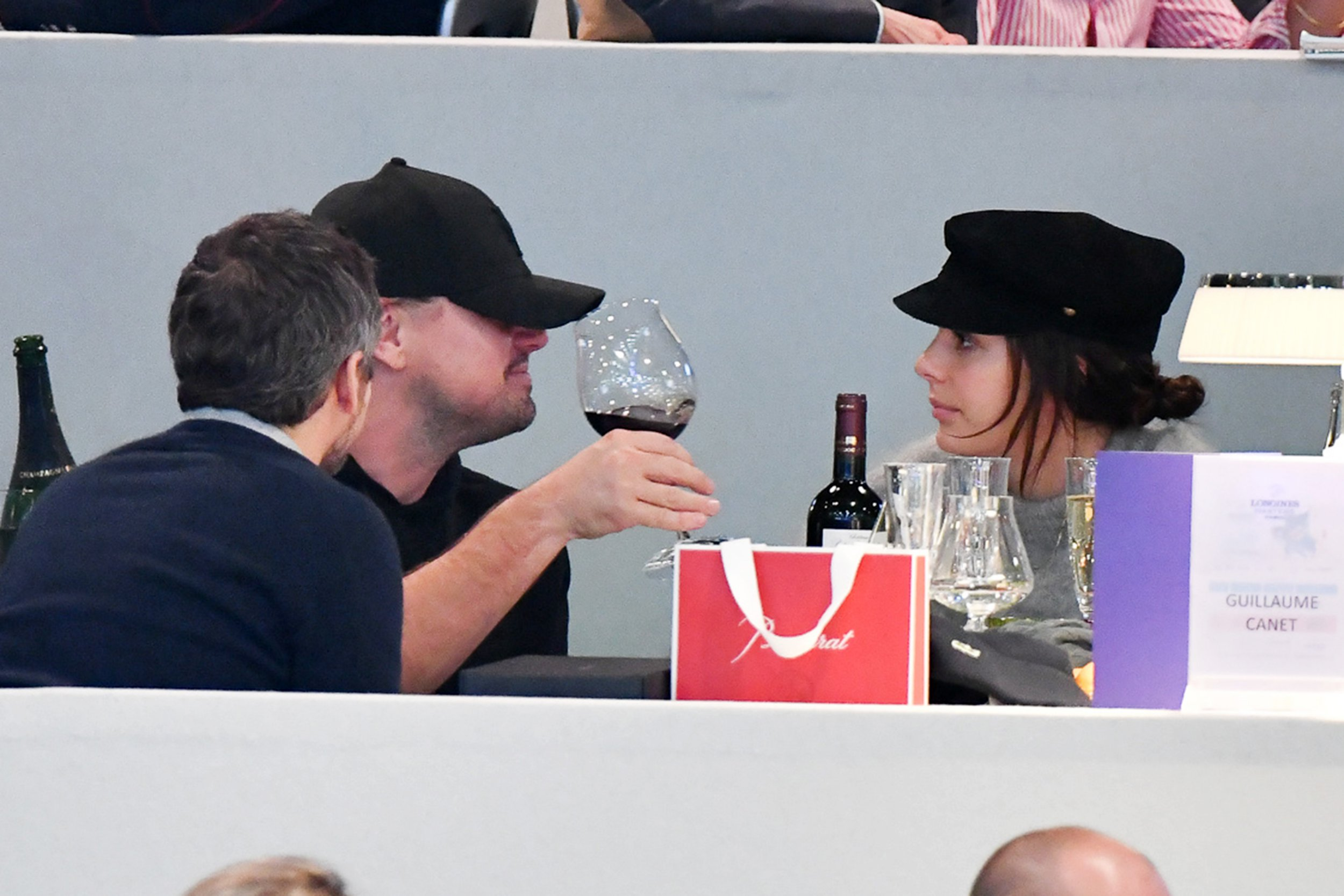 Leonardo DiCaprio spotted grinning away as he watches horse jumping with girlfriend Camila Morrone